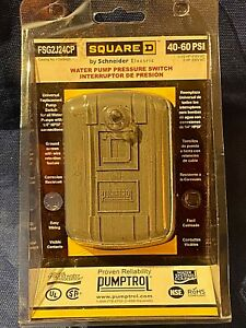 Pumptrol Square D Water Pump Pressure Switch 40-60 PSI FSG2J24CP