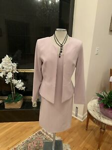 TAHARI BY ARTHUR LEVINE DRESS SUIT/SIZE 12/RETAIL$280/ ROSE PINK /LINED/