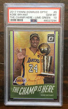 KOBE BRYANT 2017 Donruss Optic LIME GREEN HOLO #/175 - PSA 10 GEM MINT