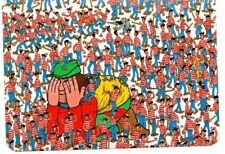 "Where's Wally? novelty postcard. ""The Land Of Wallies"""