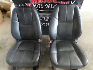2007 -2012 SUBURBAN TAHOE YUKON  BLACK LEATHER FRONT BUCKET SEATS OEM