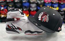 Matching New Era Chicago Balck Hawks 9Fifty snapback Hat for Jordan 8 ALTERNATE