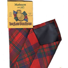 Tartan Tie Clan Matheson Red Modern Scottish Wool Plaid