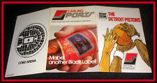 1974-75 DETROIT PISTONS CARLING BLACK LABEL BEER POCKET SCHEDULE FREE SHIPPING