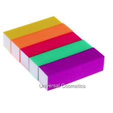 Neon Nail Sanding Buffer Colour Blocks Manicure 100/100 Grit- THE EDGE!
