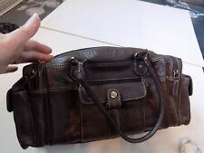 TOMMY & KATE GENUINE LEATHER BROWN BAG FAB CONDITION NO WEAR*