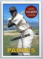 NATE COLBERT SAN DIEGO PADRES 1969 STYLE CUSTOM MADE BASEBALL CARD BLANK BACK
