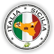 Seal Sticker of Italy Italia Sicilia Stamp Bumper Roundel Truck Laptop Car #02