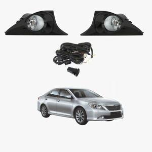 Fog Light Kit for Toyota Aurion GSV50 2012-2017 Black W/Wiring&Switch