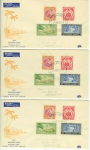 1952 Western Samoa Pictorial Issues First Day Covers