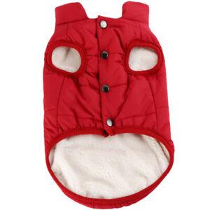 Pet Dog Waterproof Padded Clothes Winter Warm Fleece Lined Jacket Vest Coat New