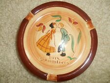 TWO Vintage Pennsbury Pottery Handpainted Ash Trays 5 Inch