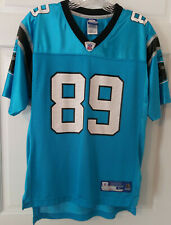 Reebok NFL Equipment Panthers Onfield Steve Smith 89 Jersey Size Youth Large