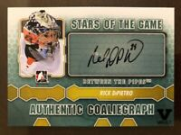 2012-13 Between The Pipes GoalieGraph Autograph Rick DiPietro Auto SP Vault