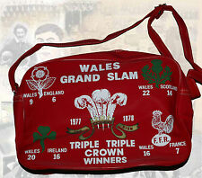 Il Galles GRAND SLAM 1978 VINTAGE ORIGINALE ROSSO Shoulder bag / zainetto