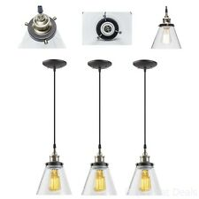 3 Vintage Look Dining Room Ceiling Lamp Hanging Lighting Luxury Kitchen Bar