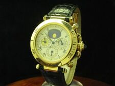 Cartier Pasha 18kt 750 Gold 3-Time Zones Automatic Herrenuhr / Ref M204579/0925