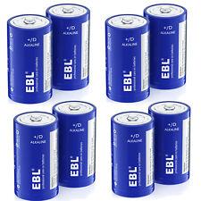 8 Pack D Size Alkaline Batteries LR20 L20 High Capacity D Cell Battery