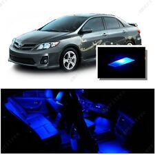 For Toyota Corolla 2003-2013 Blue LED Interior Kit + Blue License Light LED