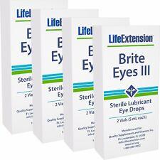 Life Extension Brite Eyes III Eye Drops - 2 Vials (5 ml each), Pack of 4