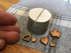 60 Pcs Rustic Wedding Name Place Card Holders Table Quality Tree Wood Mini Logs