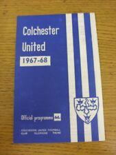 10/02/1968 Colchester United V Tranmere Rovers. questo oggetto è stato ispezionato,