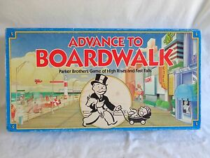 ADVANCE TO BOARDWALK Game High Rises Fast Falls 1985 Parker Brothers 0014