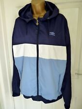 LADIES OR MEN'S UNISEX UMBRO LIGHTWEIGHT TRACKSUIT HOODED ZIP JACKET Sz L 16/18