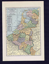 NETHERLANDS & BELGIUM - 1929 Map Print