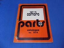 CAMARO MASTER PARTS CATALOG 67 - 1973 *original*
