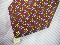 Brooks Brothers Tie Silk Leaf Leaves Print Italian  ~ NWT $79.50 - New