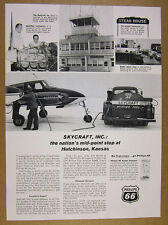 1966 Skycraft Inc Hutchinson KS Airport Phillips 66 fuel truck photo vintage Ad