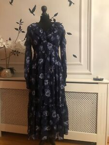 Kate Spade New York prairie rose silk midi dress UK8 EU34 RRP £495