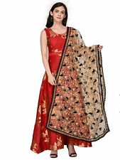 Women Embroidered Net Dupatta Tippet Scarf Traditional Wear