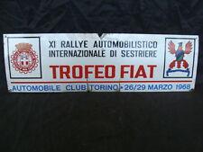 TARGA 11°RALLYE AUTOMOBILISTICO INTERNAZIONALE SESTRIERE TROFEO FIAT 1968 ABARTH