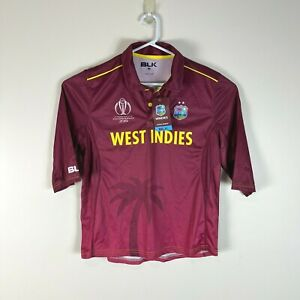 West Indies Ladies BLK Cricket 2019 World Cup Rare Jersey Shirt Size L 16 NWT