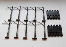 10 Märklin Oberleitungsmasten 74100 für C-Gleise