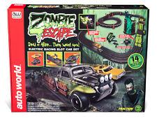 """Auto Welt Srs323 4.3m """" Zombie Escape """" 2 Slotcar Rennfahren Set 1 / EA Ho"""