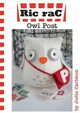 "OWL POST Sewing Card Pattern by Ric Rac for Sweet 4"" Stuffed Animal"