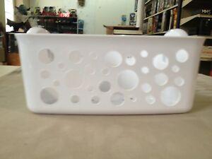 Interdesign Bath Tub Corner Storage Suction Basket White