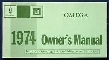 Owner'S MANUAL MANUALE DI ISTRUZIONI 1974 Oldsmobile Omega (USA)