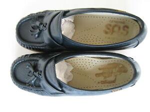 SAS  Navy Blue Leather  Comfort Shoes Women's Size 6 W