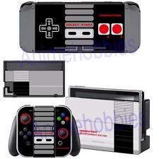Nintendo Switch Console Joy-Con Dock Skin NES Retro Vinyl Decal Stickers Covers