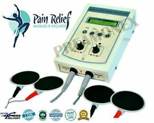 New Dual Ch Electrotherapy Physical Therapy Unit Pain Relief Machine Equipment