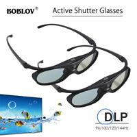 2x Active Shutter 3D Glasses For DLP-LINK Projectors BenQ Optoma Dell Mitsubishi