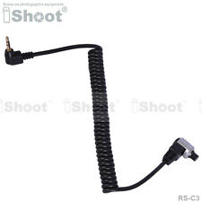 Camera Remote Control Switch Shutter Release Cable Cord—2.5mm to RS-C3 for Canon