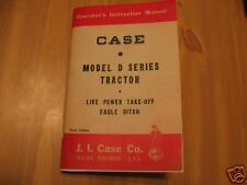 Case Model D DC DO DS Tractor Operator's Owner's Manual