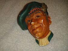 Vintage Bossons Scottish Chalkware Head Figure-1962 Markings-Lifelike-H Bossons