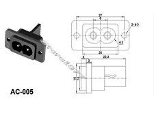 5pcs 2Pin Figure 8 Type IEC C8 Rewireable Female Inlet Socket AC-005 s761