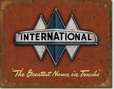 International Trucks Logo  Metal Sign Tin New Vintage Style #1675